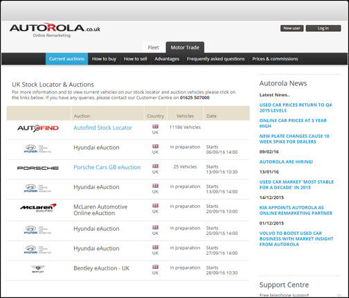 Online Car Auctions >> Vehicle Auctions Autorola Group Online Vehicle